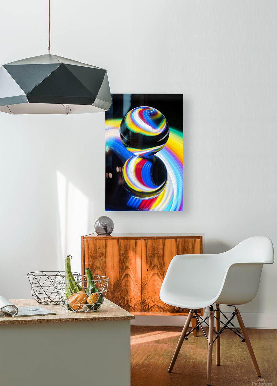 Lens ball  HD Metal print with Floating Frame on Back