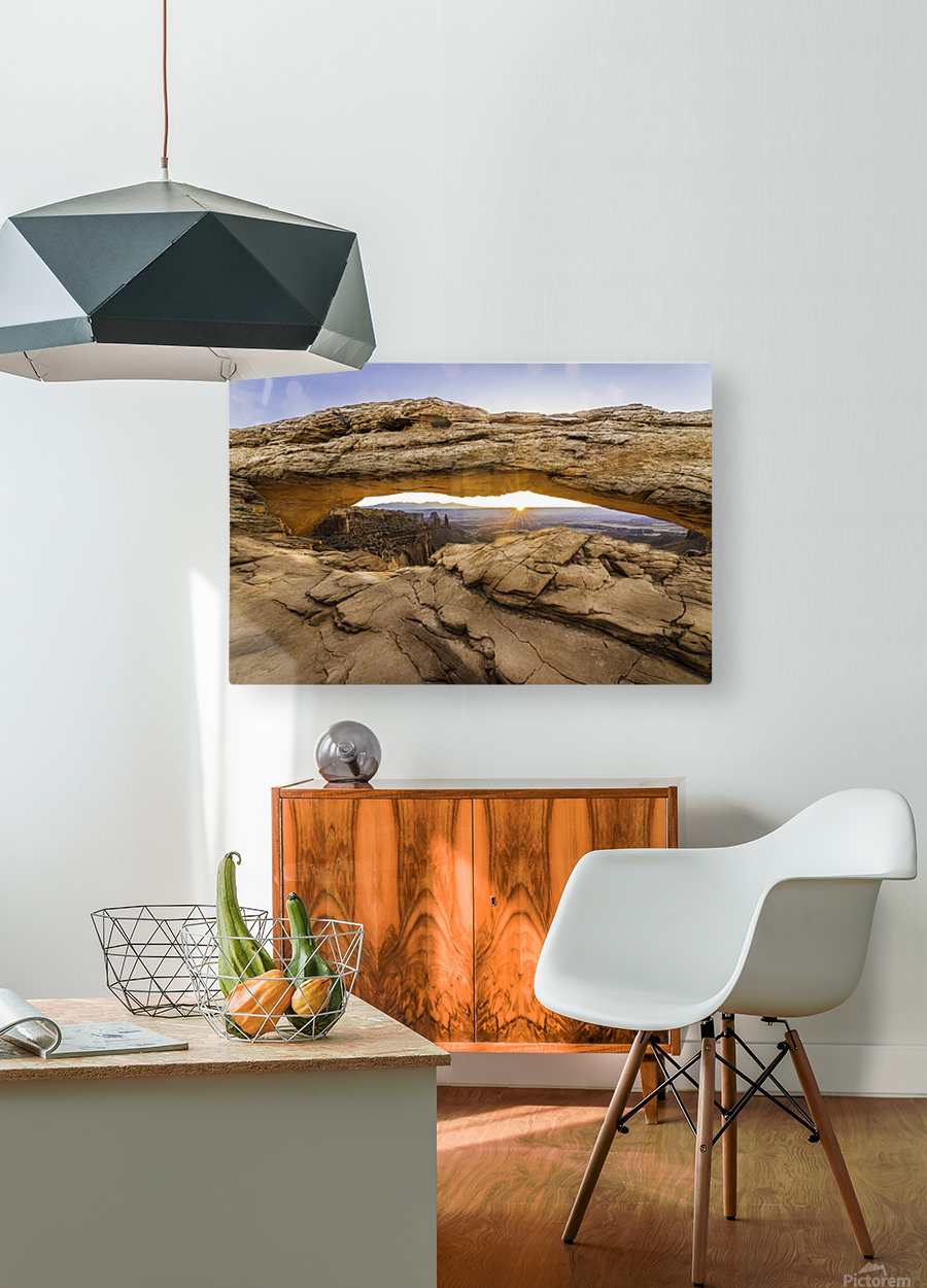 The Great Eye 2  HD Metal print with Floating Frame on Back