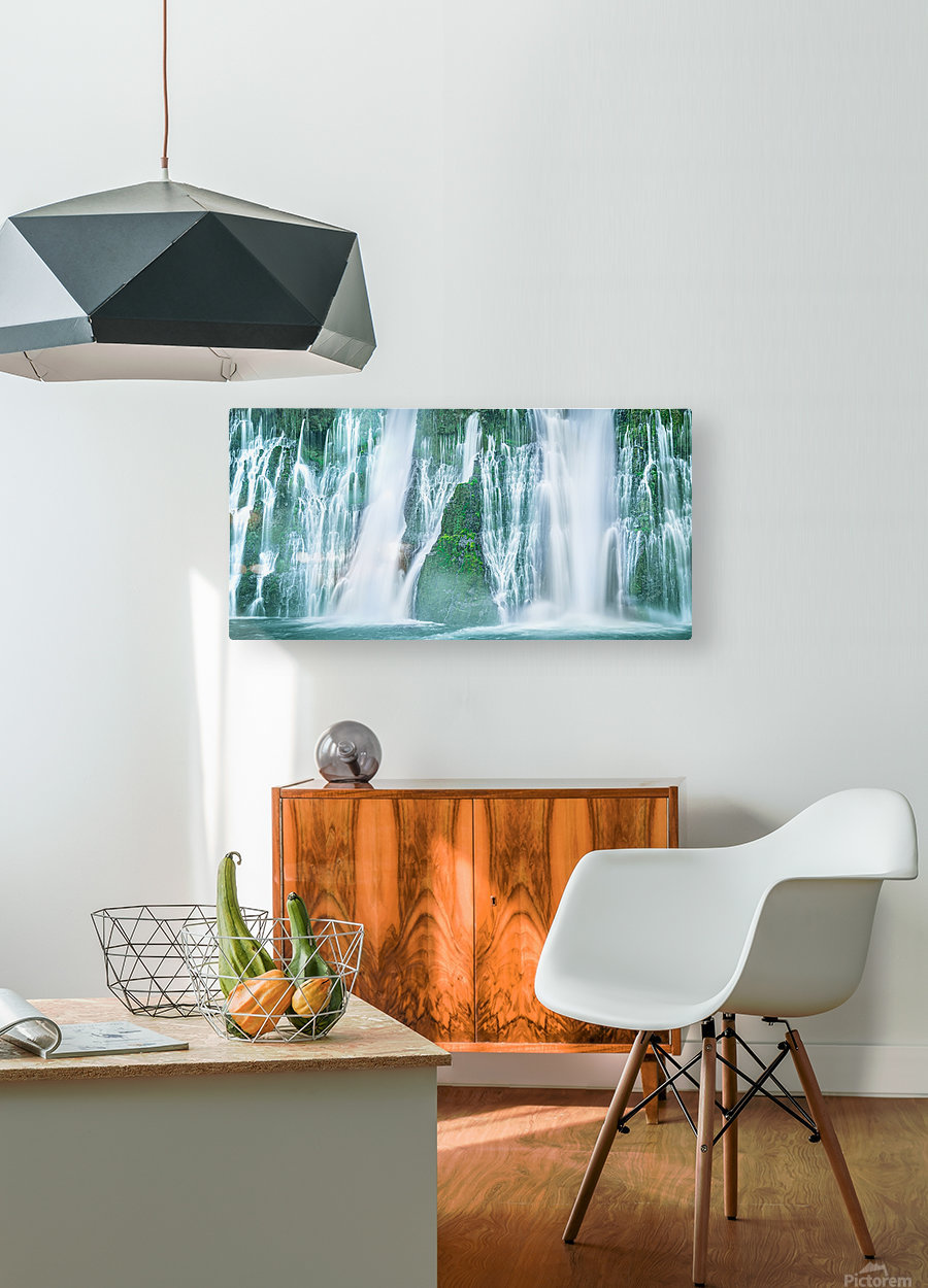 The Flowing Wall  HD Metal print with Floating Frame on Back