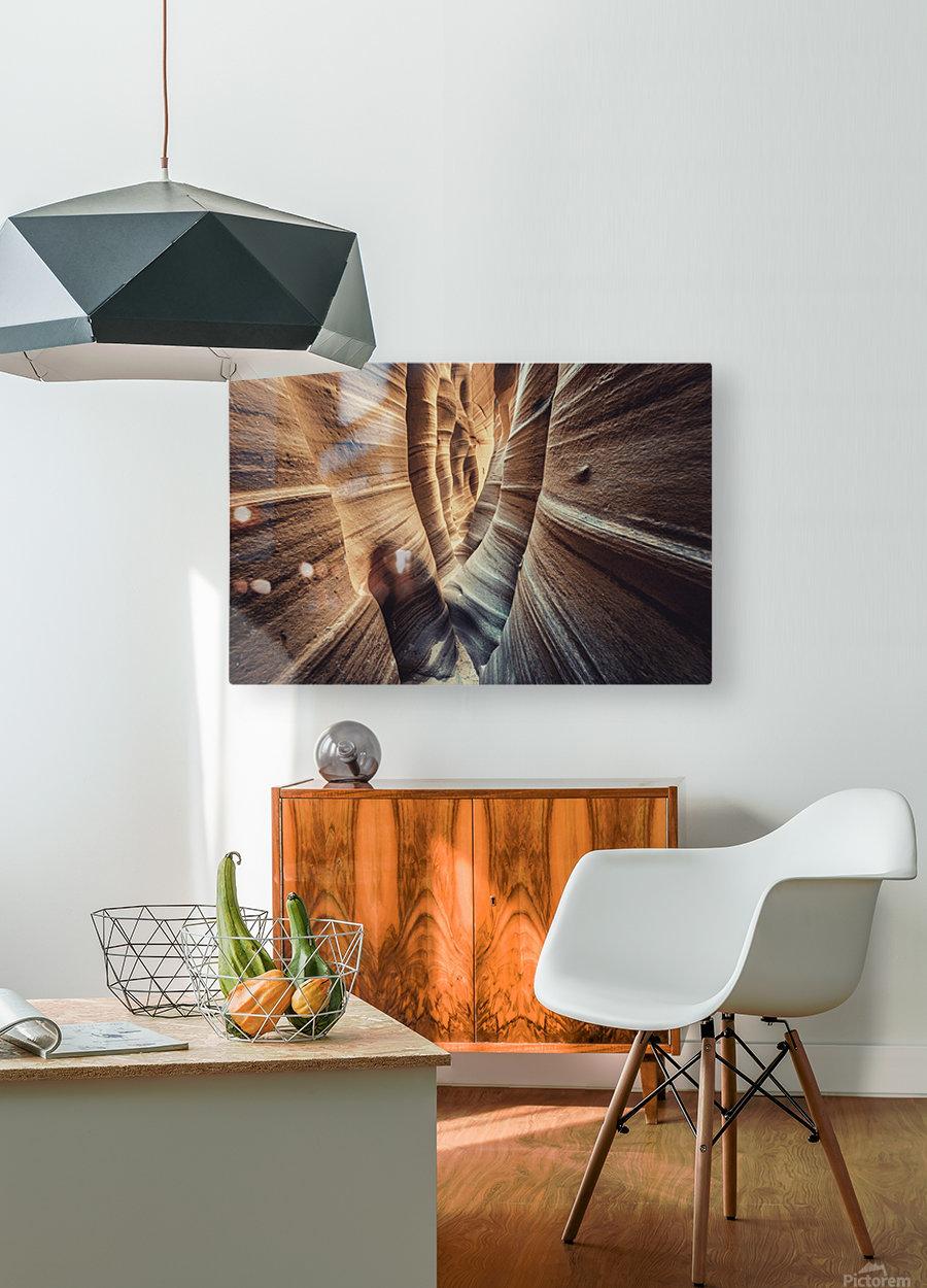 Zebra Slot Canyon II  HD Metal print with Floating Frame on Back