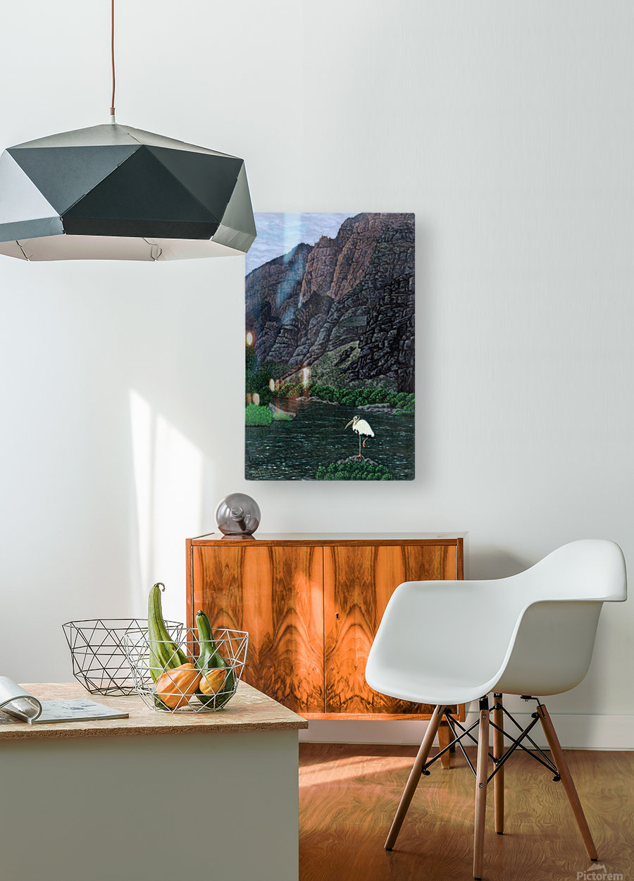 1988 014  HD Metal print with Floating Frame on Back