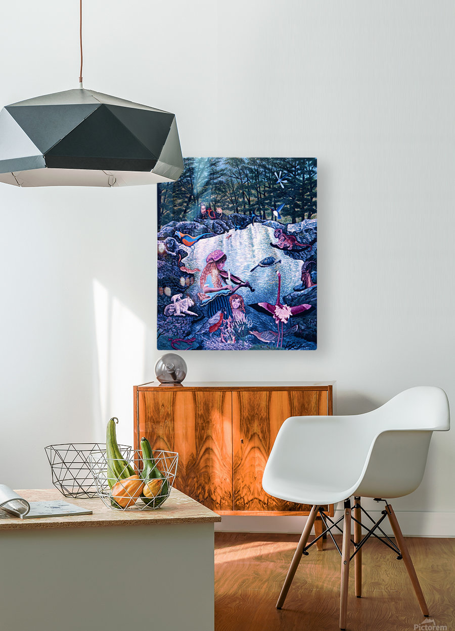 1987 026  HD Metal print with Floating Frame on Back