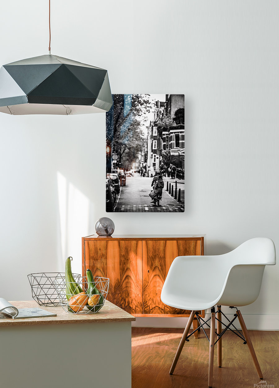 Raining in Amsterdam  HD Metal print with Floating Frame on Back