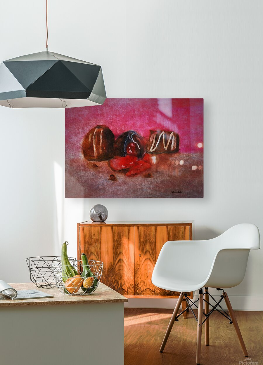 Chocolate Candy  HD Metal print with Floating Frame on Back