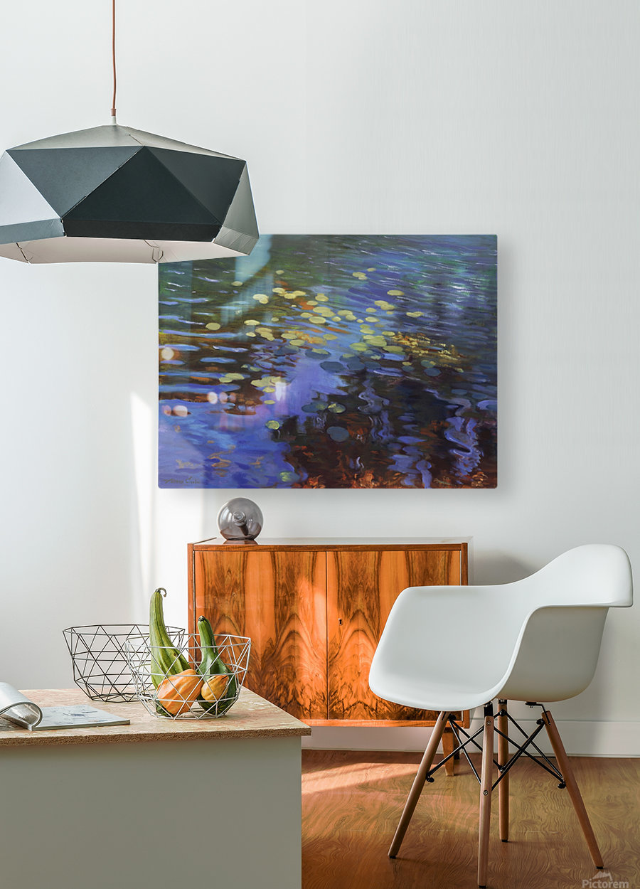Waterlilies  HD Metal print with Floating Frame on Back