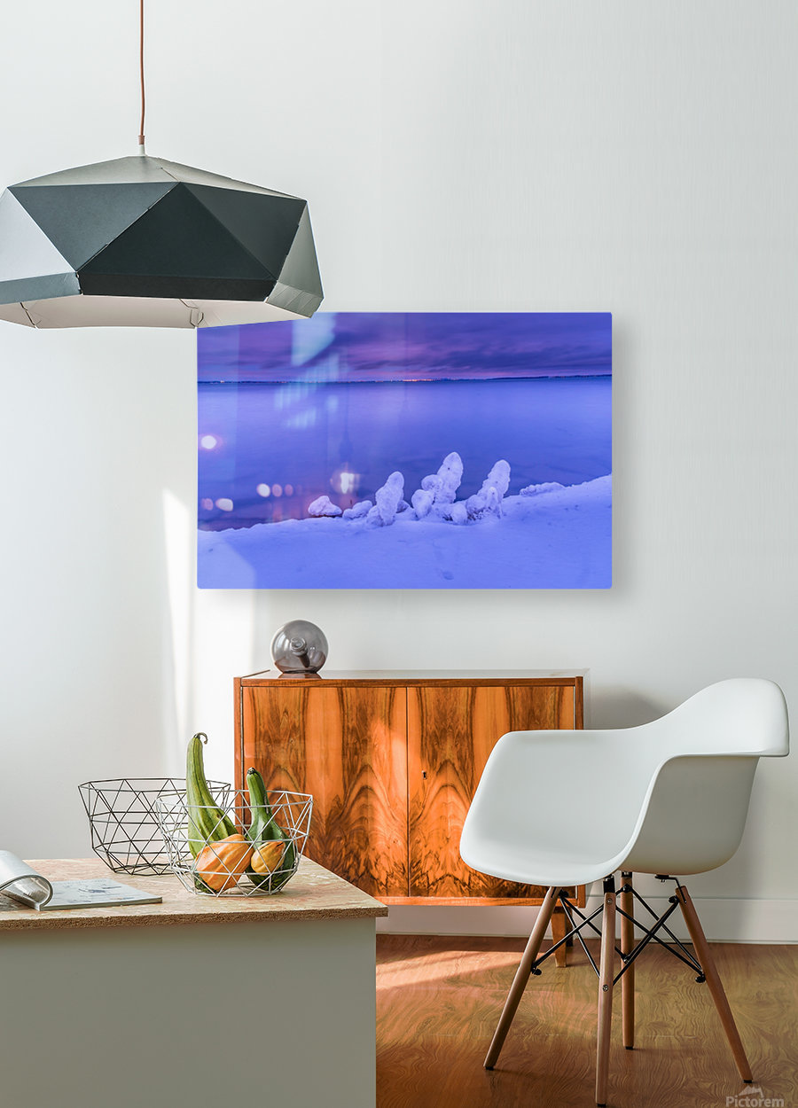 Icy blues  HD Metal print with Floating Frame on Back
