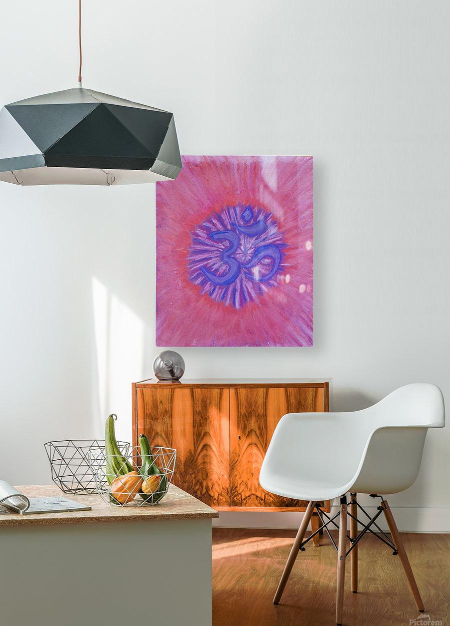 Om pink purple spring 2020  HD Metal print with Floating Frame on Back