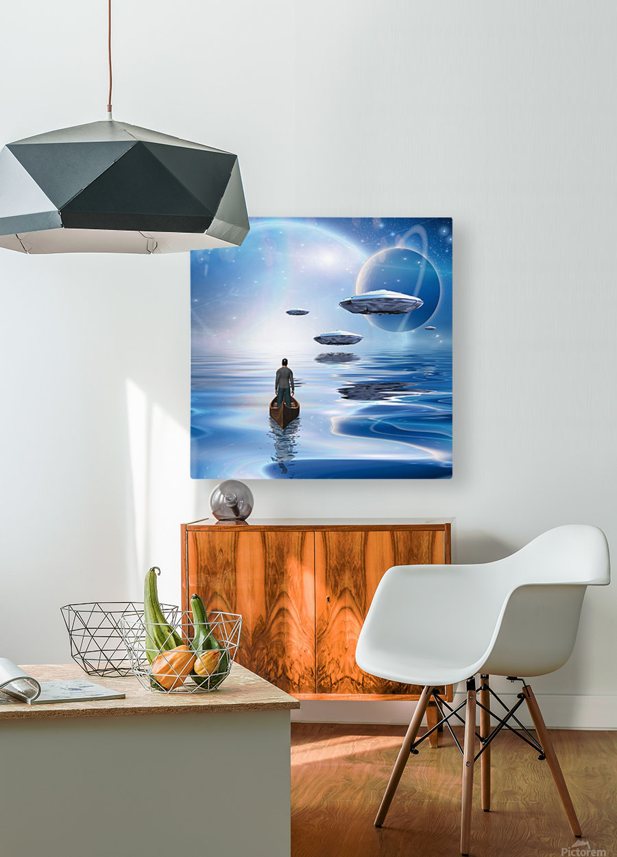 Exosolar Planets  HD Metal print with Floating Frame on Back