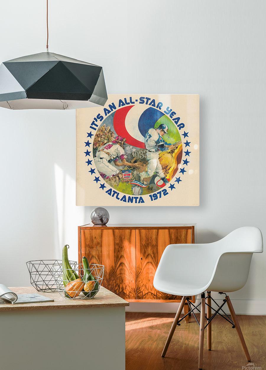 its an all star year atlanta 1972 baseball art  HD Metal print with Floating Frame on Back