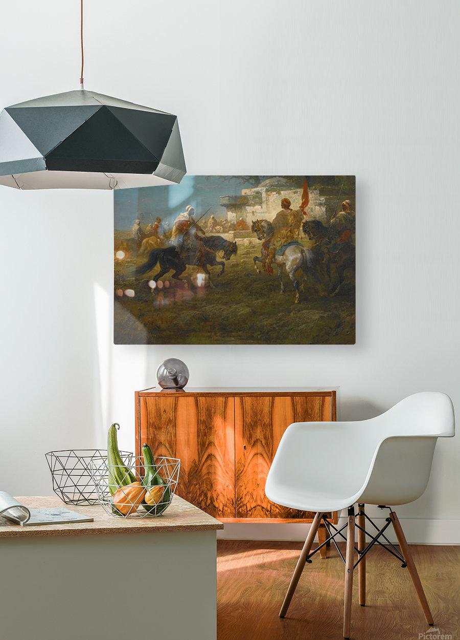 Der Fahnentrager  HD Metal print with Floating Frame on Back