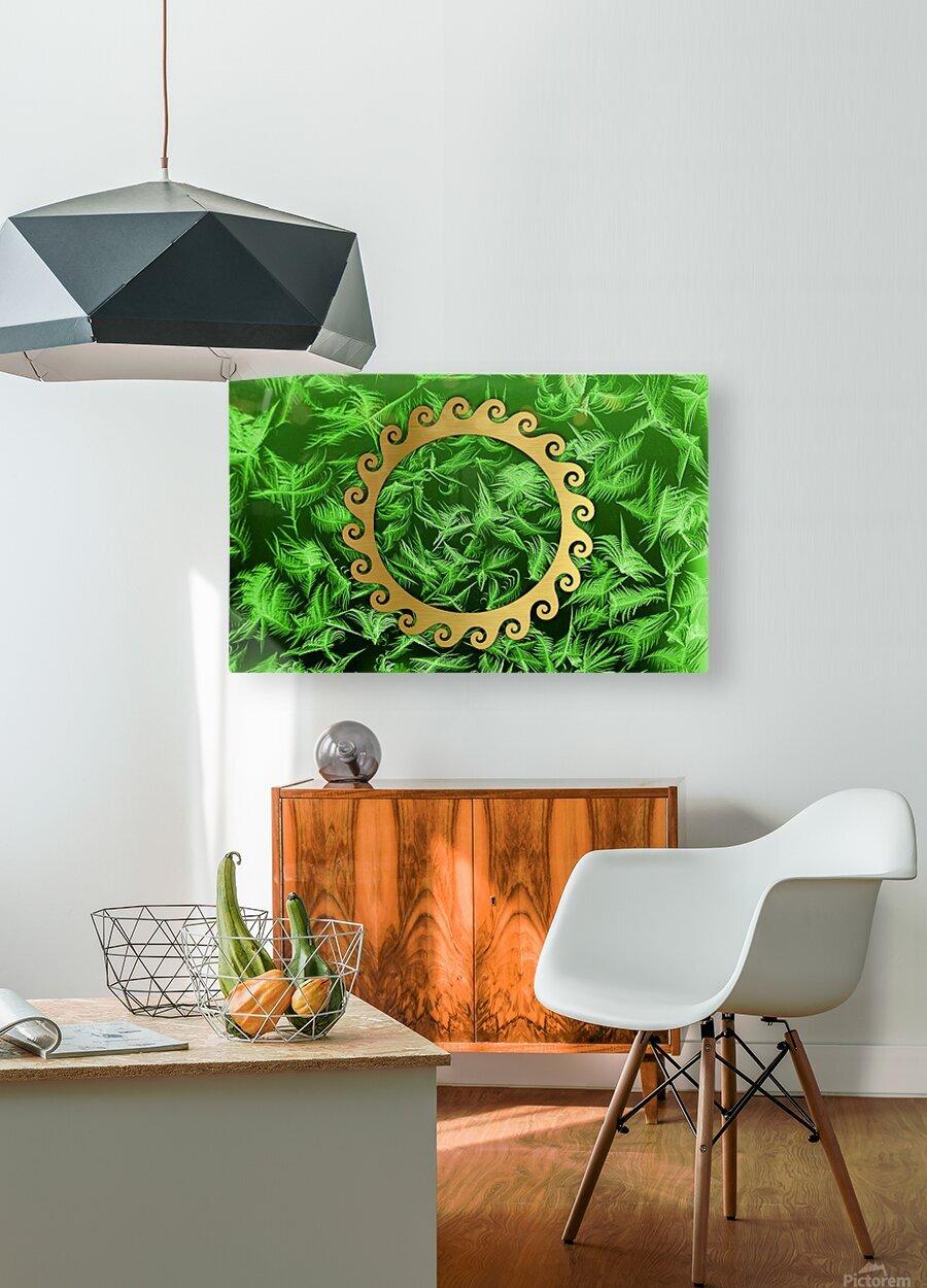 Elegant home decoration room design  Impression métal HD avec cadre flottant sur le dos