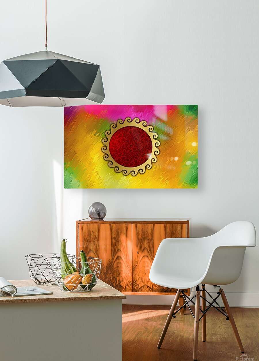 Signs of power and protection amulets sun  HD Metal print with Floating Frame on Back