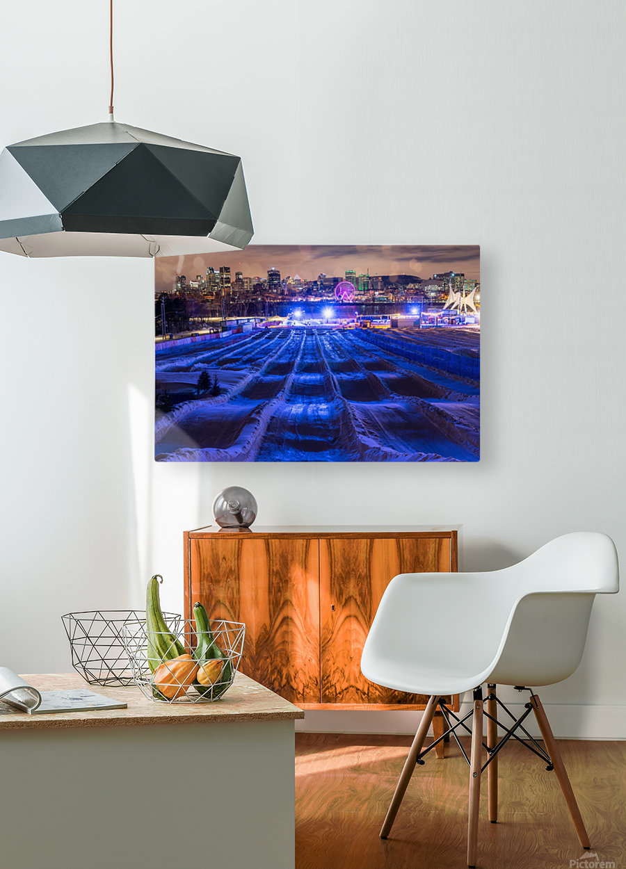 High angle in the slide  HD Metal print with Floating Frame on Back