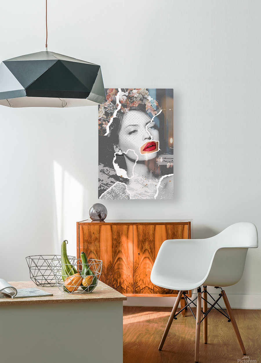 Rosie  HD Metal print with Floating Frame on Back