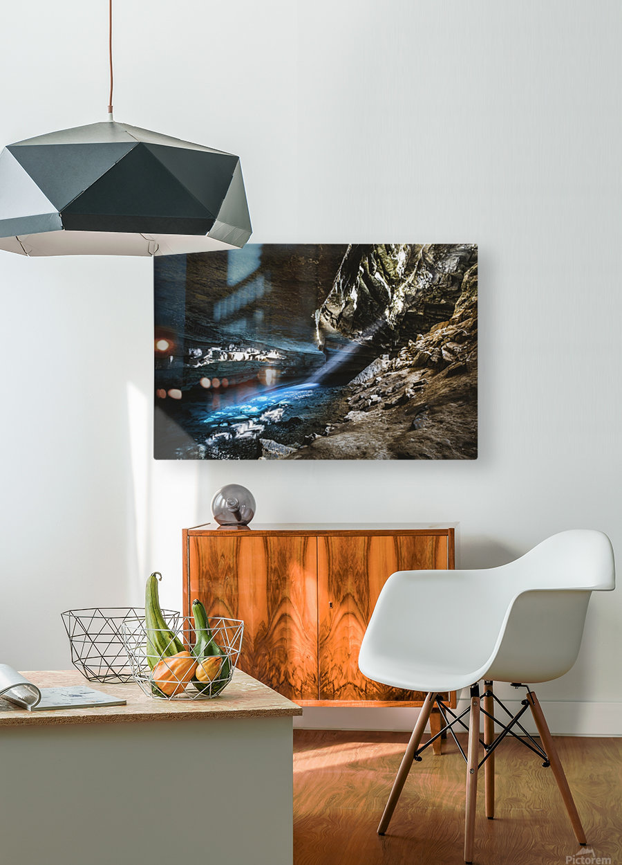 The Blue Cave  HD Metal print with Floating Frame on Back