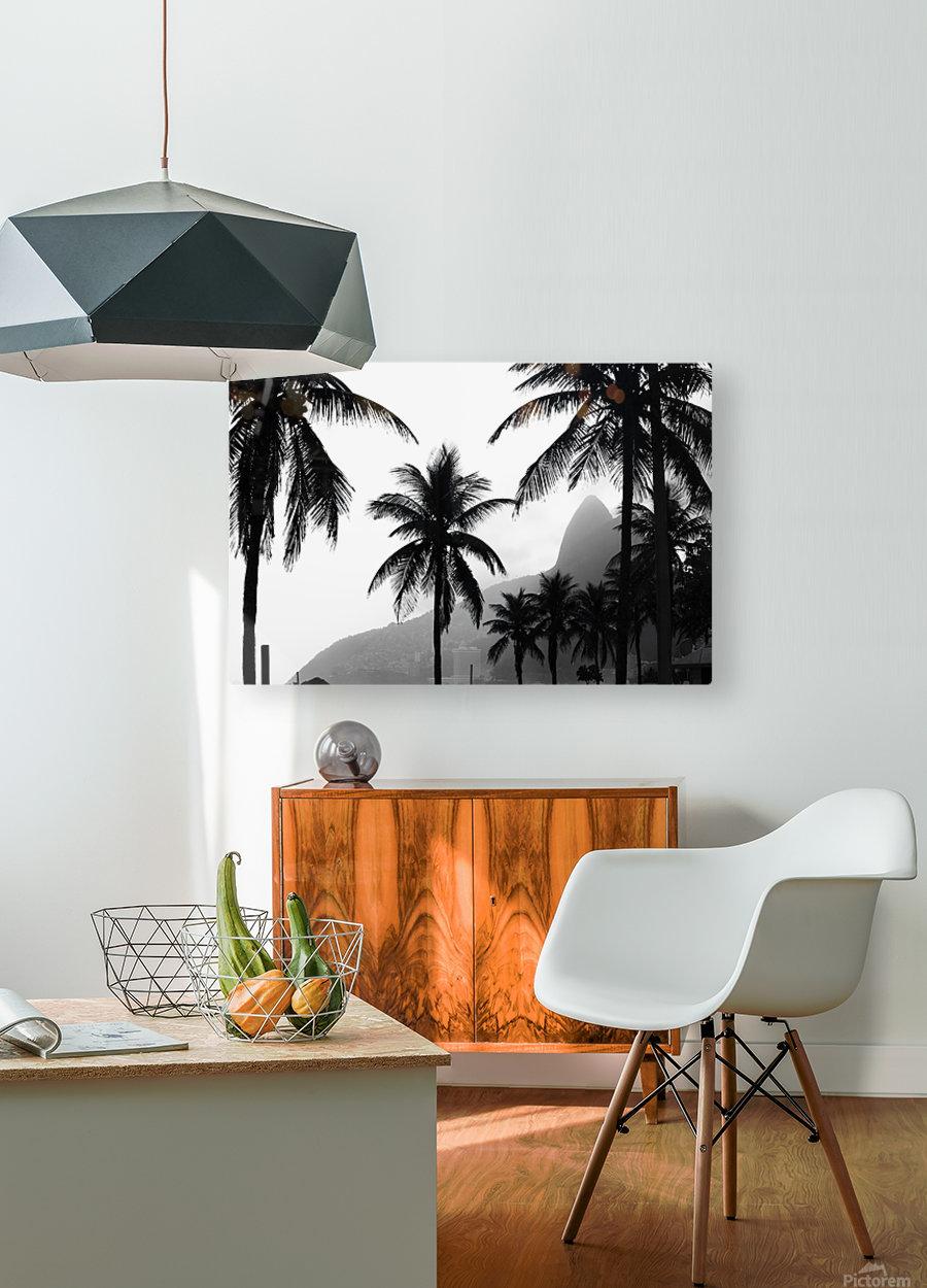 Ipanema B&W  HD Metal print with Floating Frame on Back