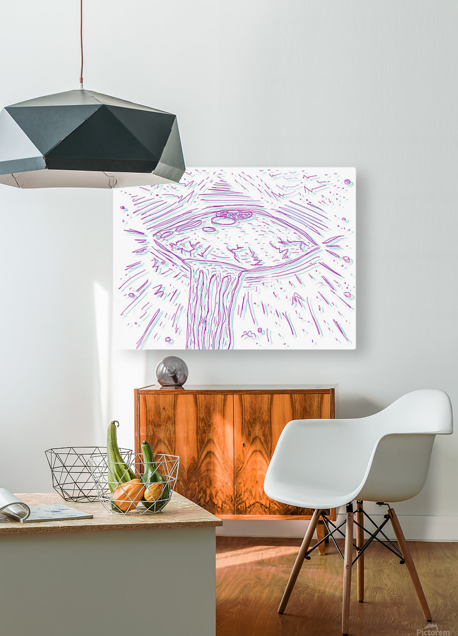 Cosmic Interferenss  HD Metal print with Floating Frame on Back