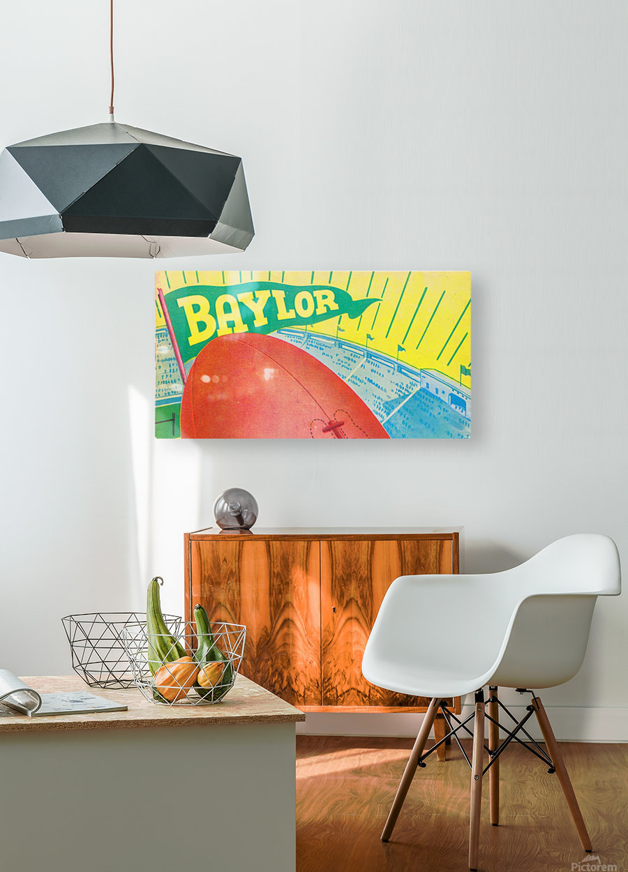 Baylor Bears Football Pennant Poster (1935)  HD Metal print with Floating Frame on Back