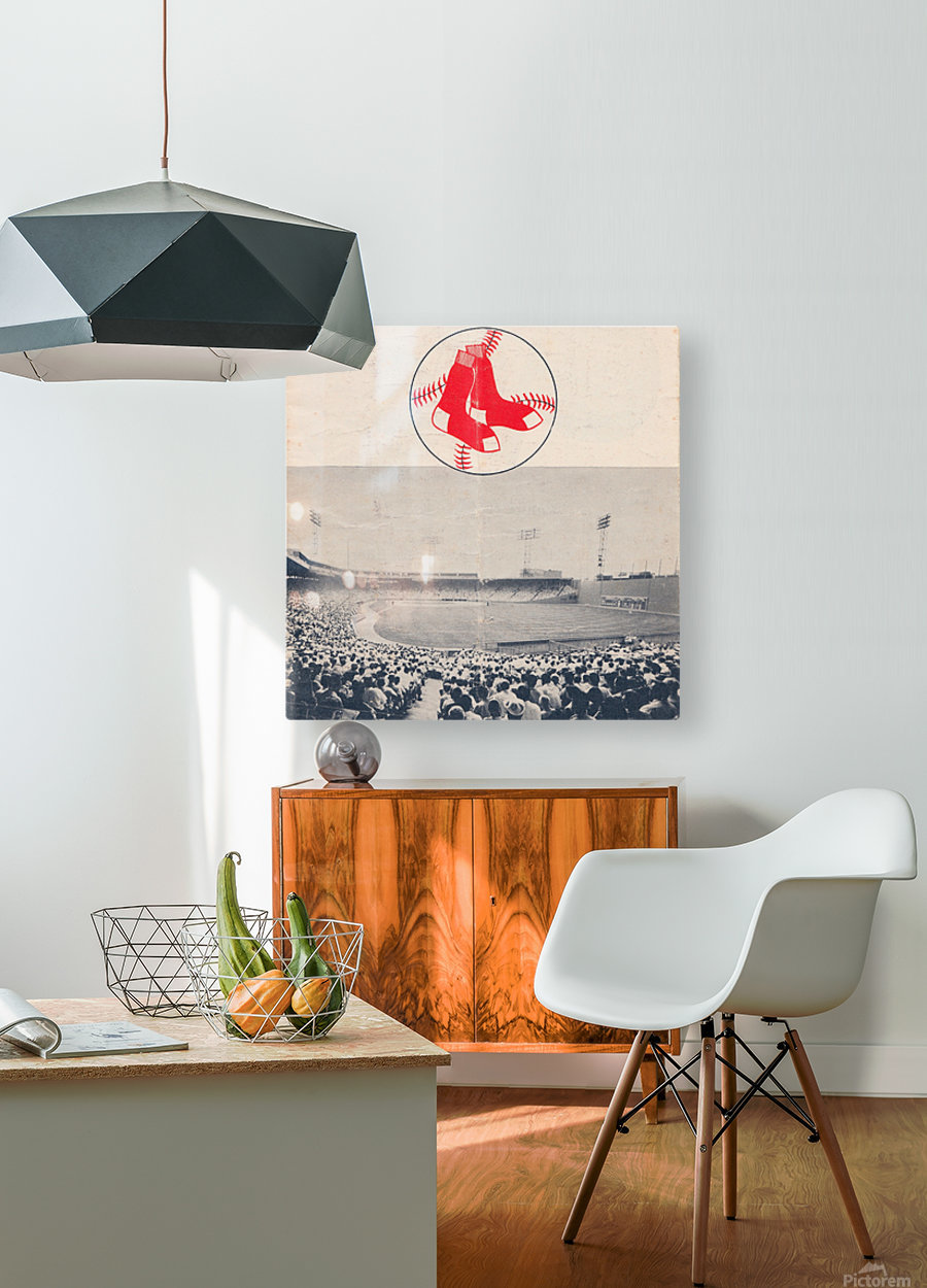 Vintage Fenway Park Poster_Boston Red Sox Photo Reproduction  HD Metal print with Floating Frame on Back