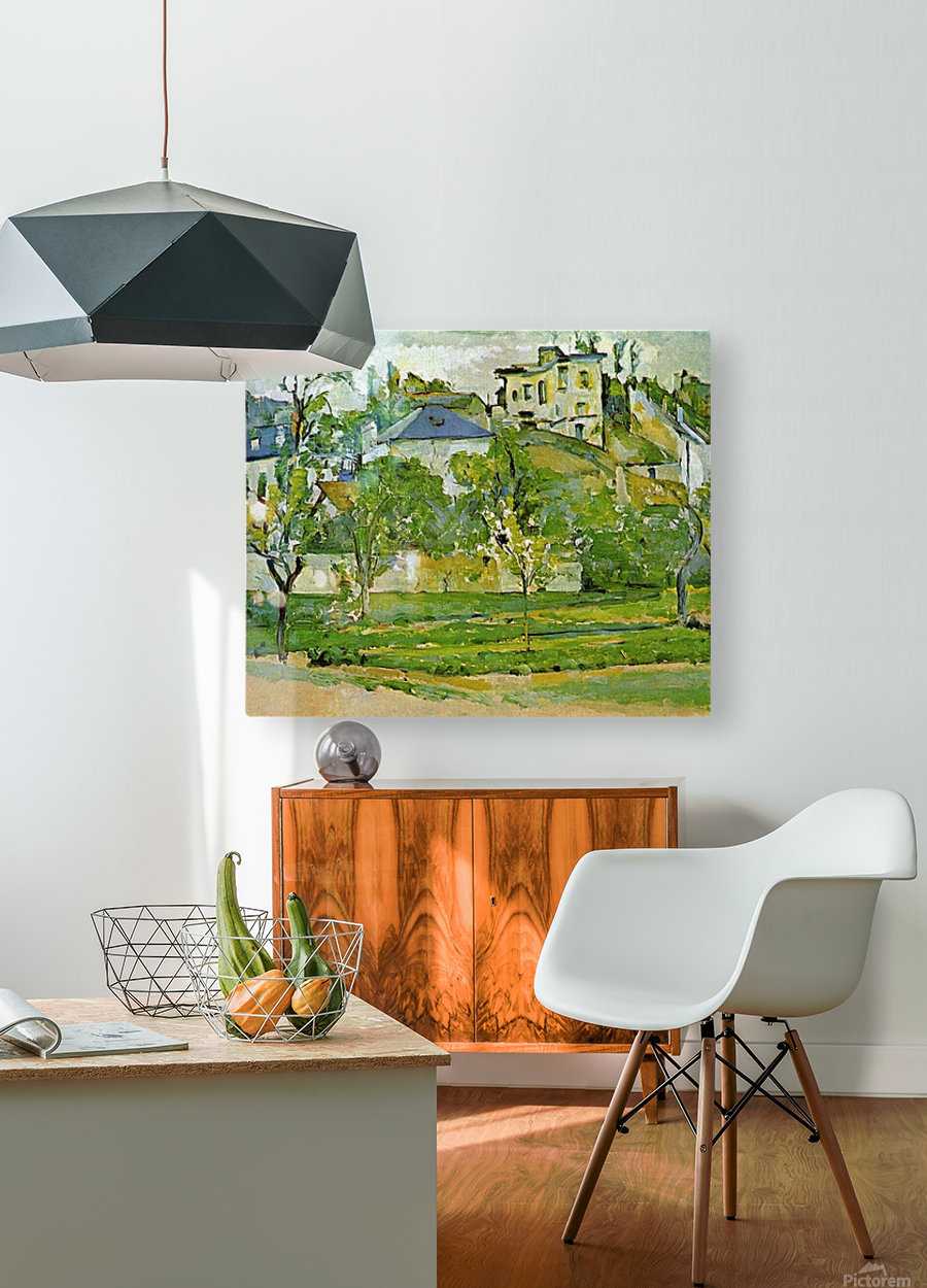 Fruit garden in Pontoise by Cezanne  HD Metal print with Floating Frame on Back