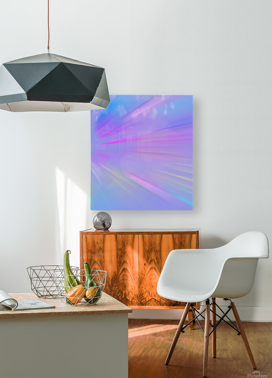 Purple Comet  HD Metal print with Floating Frame on Back