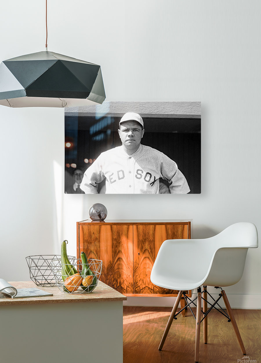1919 Babe Ruth   HD Metal print with Floating Frame on Back