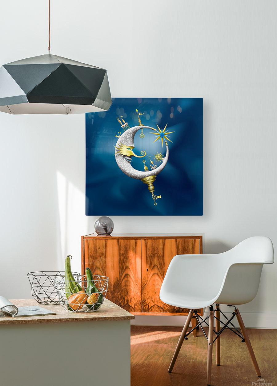 Marcelluna Metalli  HD Metal print with Floating Frame on Back