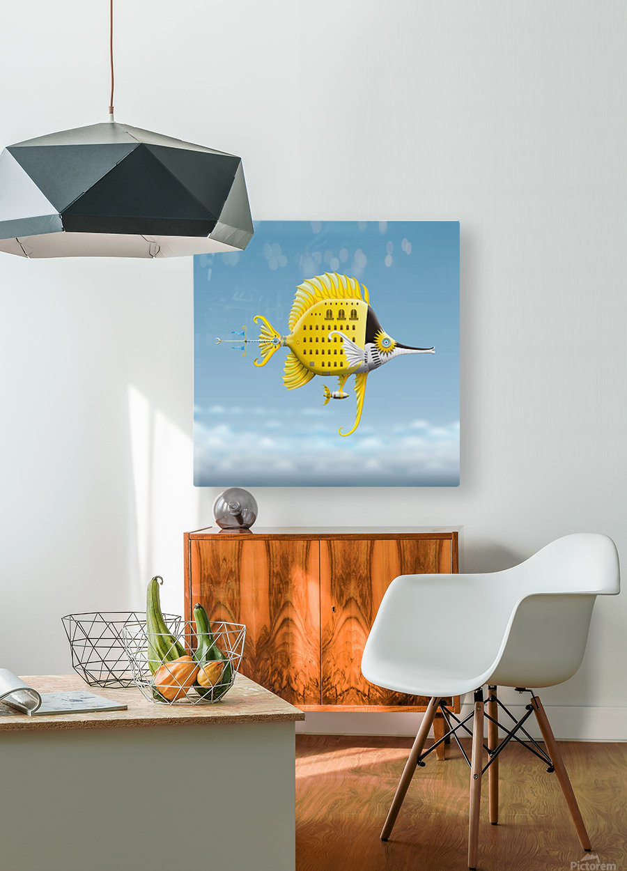 Residenza Pescellino Royale  HD Metal print with Floating Frame on Back