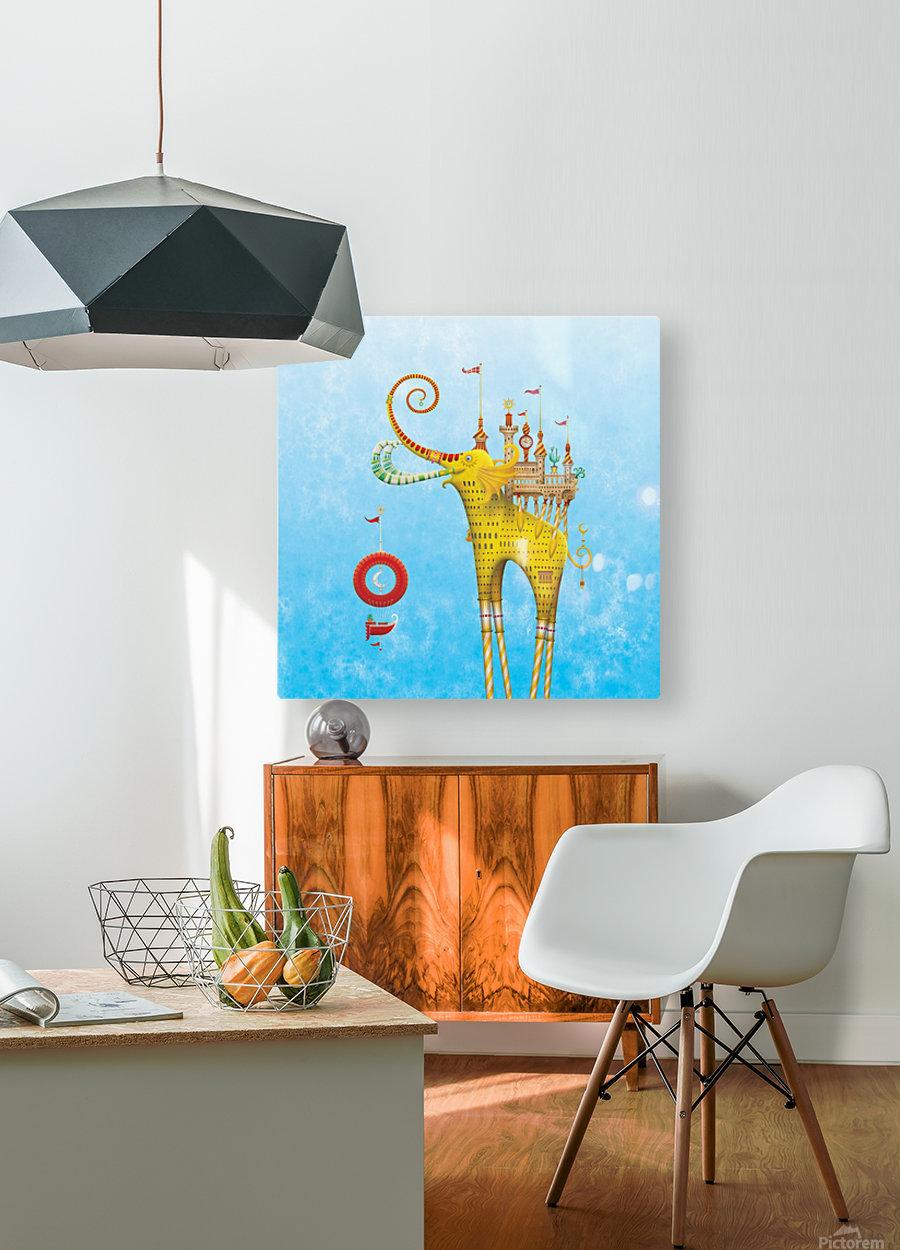 Castellini Elephantini Dorado  HD Metal print with Floating Frame on Back