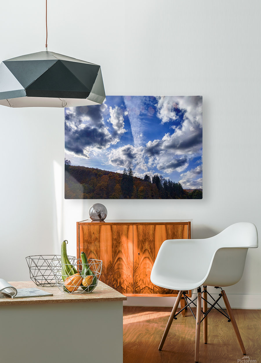 Cloudscape  HD Metal print with Floating Frame on Back