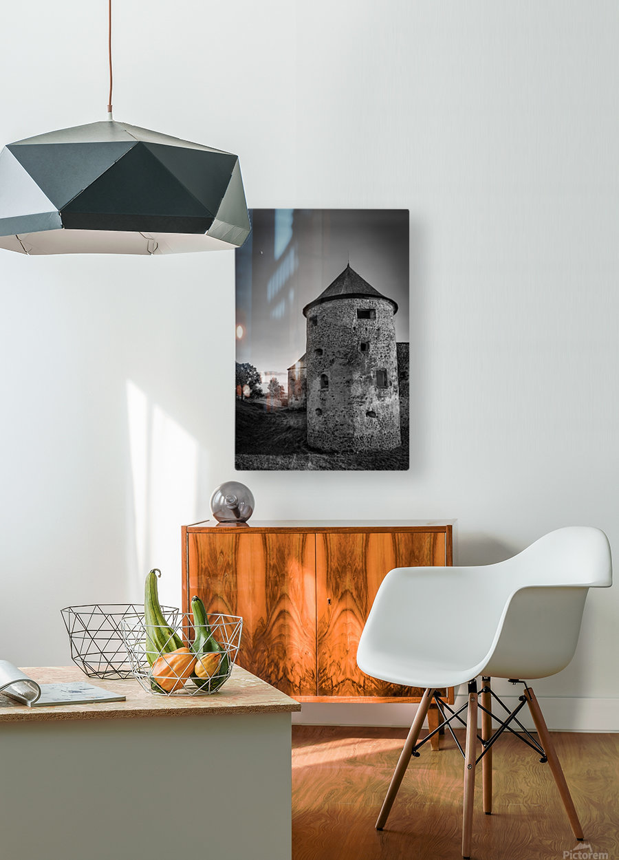 Old castle tower  HD Metal print with Floating Frame on Back