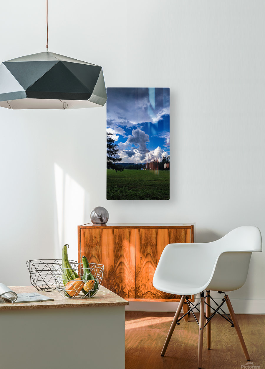 Stormy clouds  HD Metal print with Floating Frame on Back