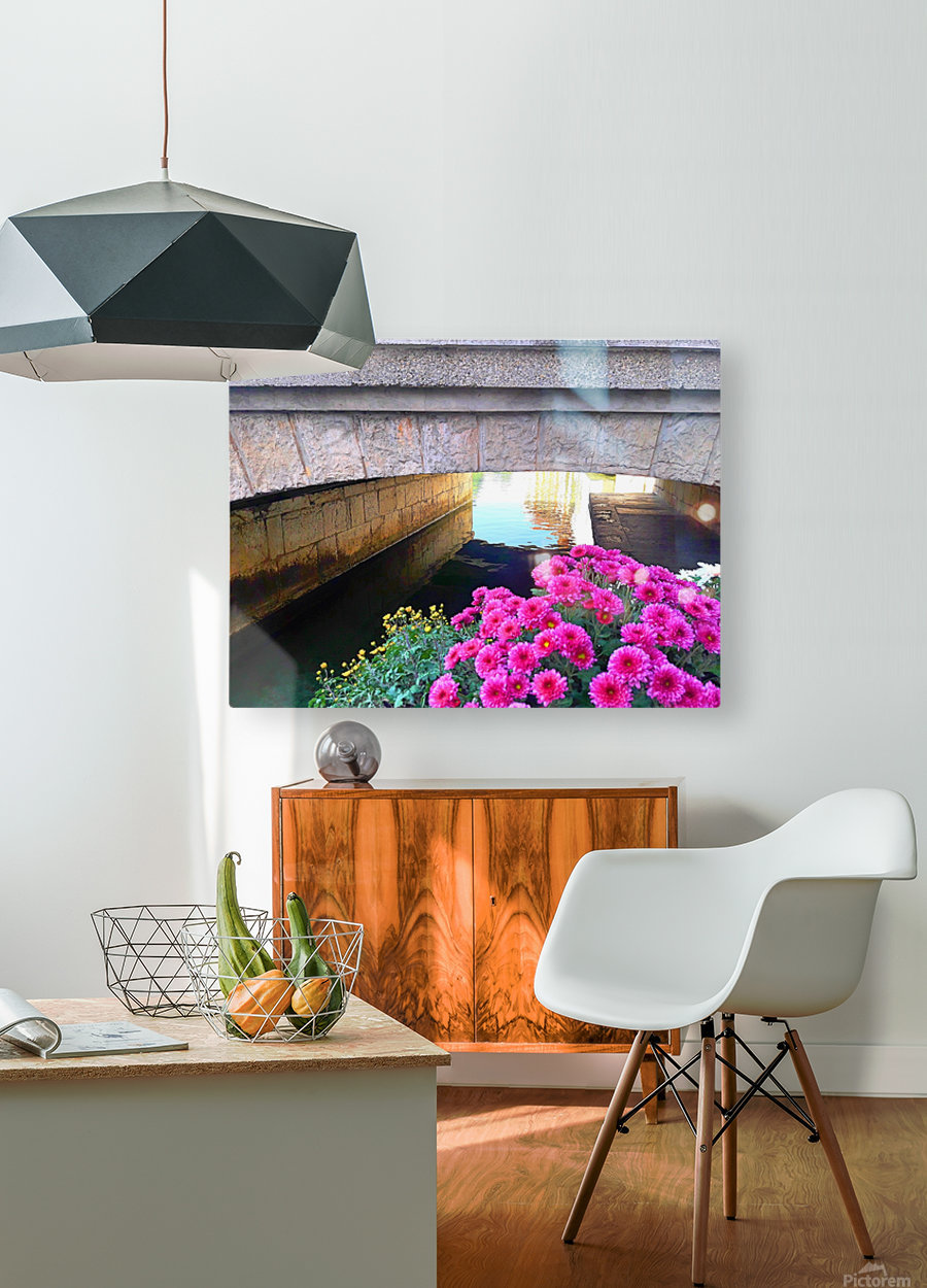 France Water Under The Bridge  HD Metal print with Floating Frame on Back
