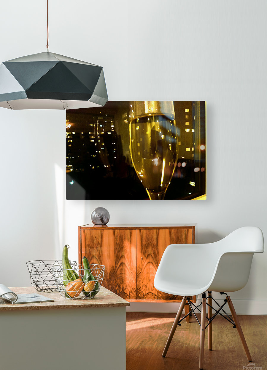 Champagne 4  HD Metal print with Floating Frame on Back