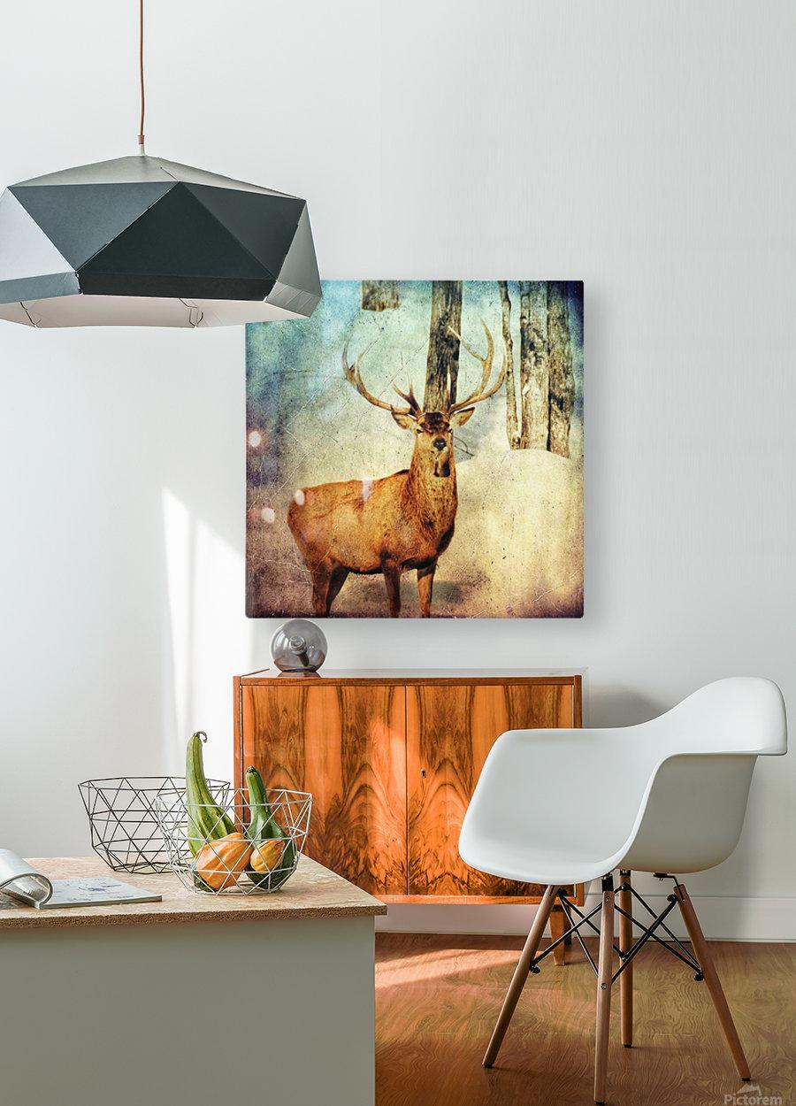 Dans les bois  HD Metal print with Floating Frame on Back