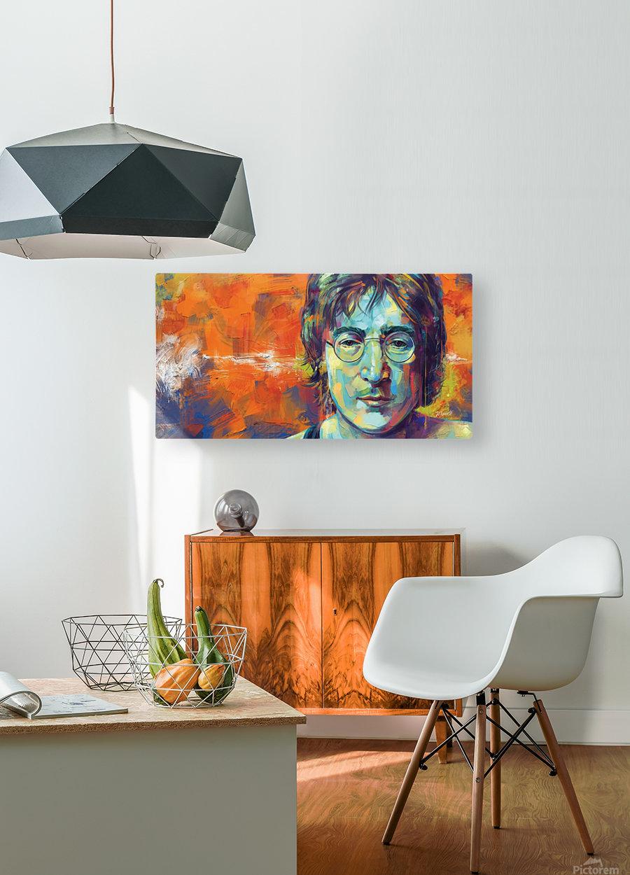 JOHN LENNON  HD Metal print with Floating Frame on Back