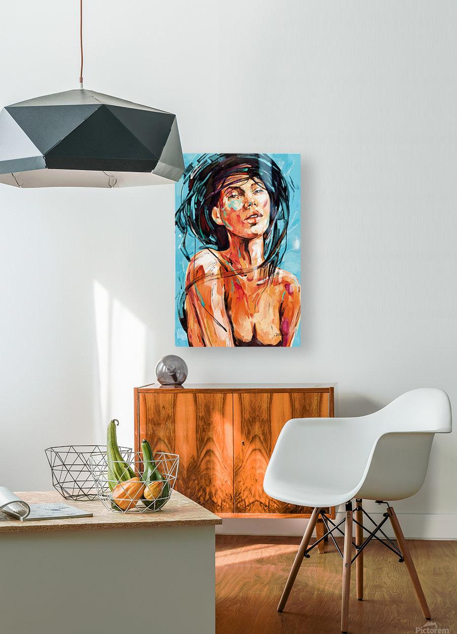 MIS PENSAMIENTOS  HD Metal print with Floating Frame on Back
