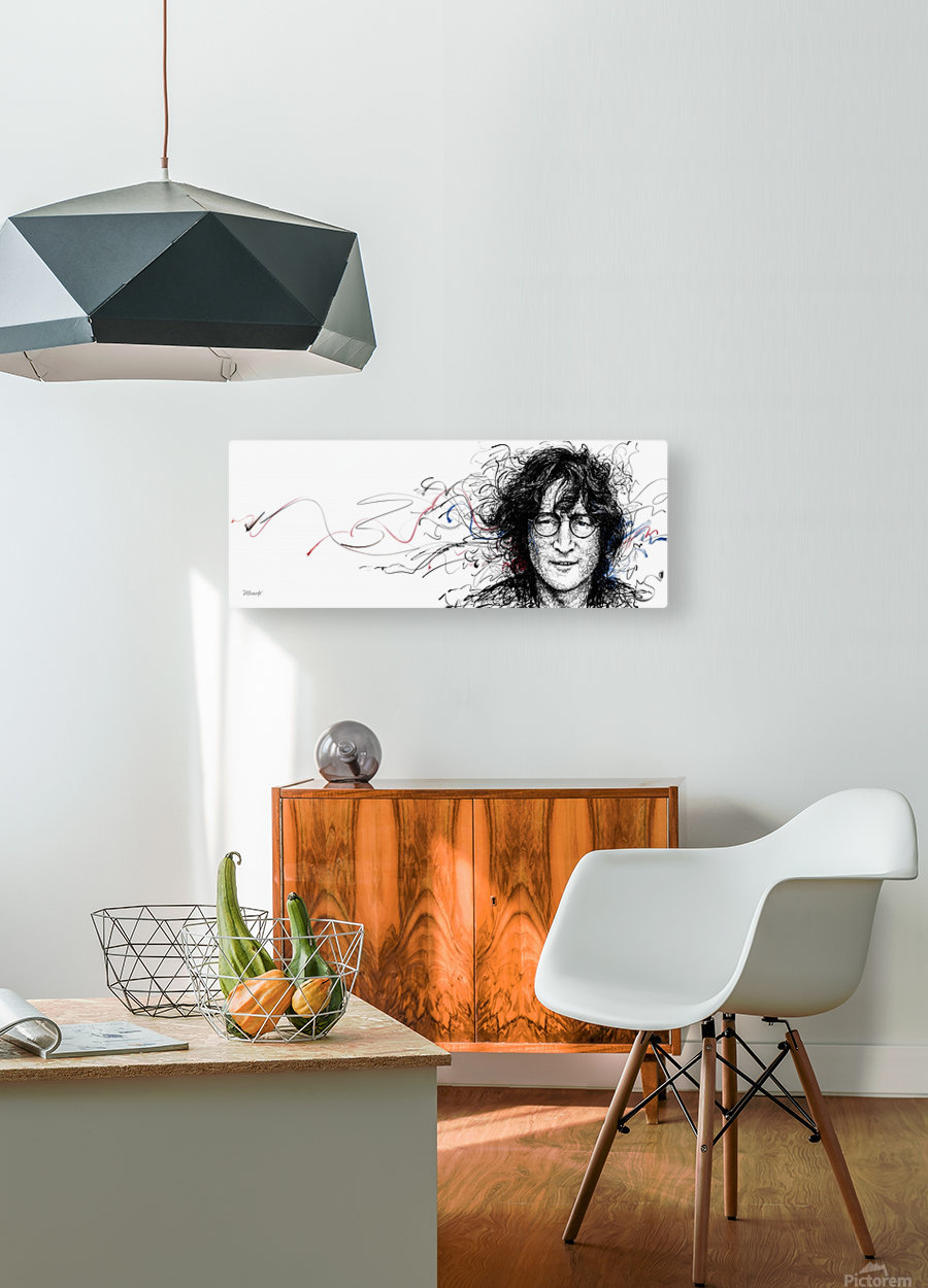 LENNON  HD Metal print with Floating Frame on Back