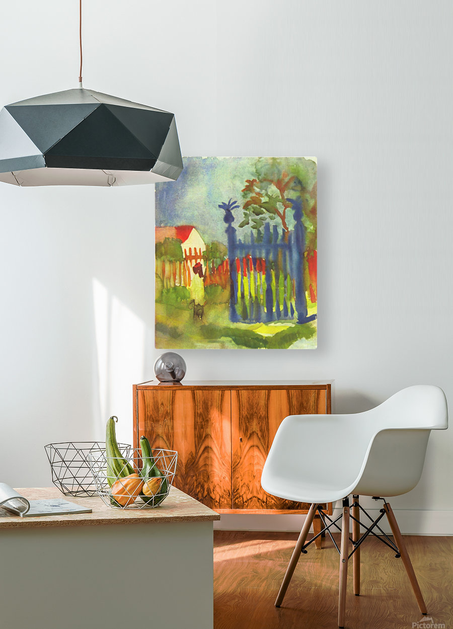 Garden gate by Macke  HD Metal print with Floating Frame on Back