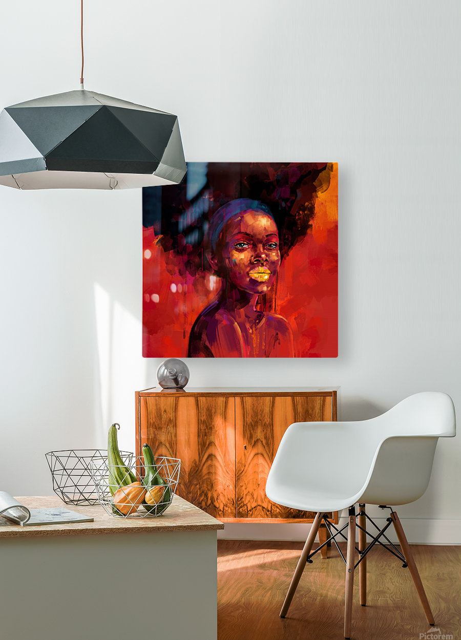 BELLEZA AFRO  HD Metal print with Floating Frame on Back