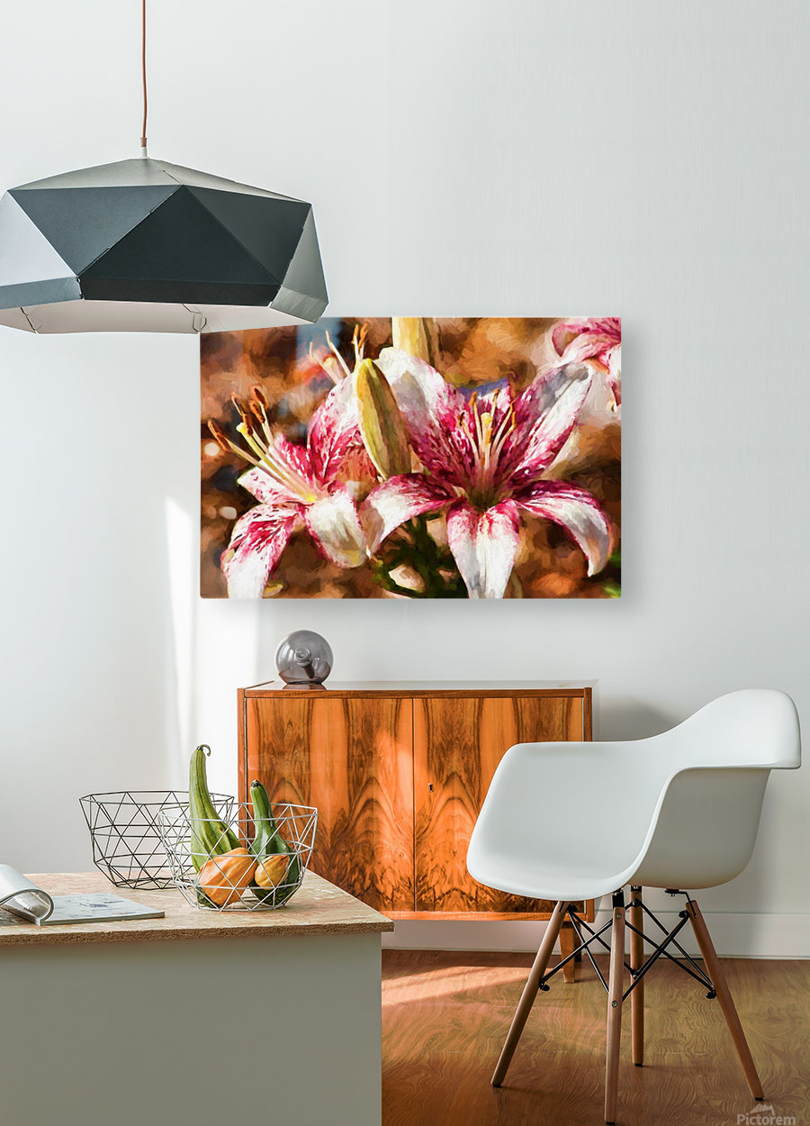 Stargazer Lily  HD Metal print with Floating Frame on Back