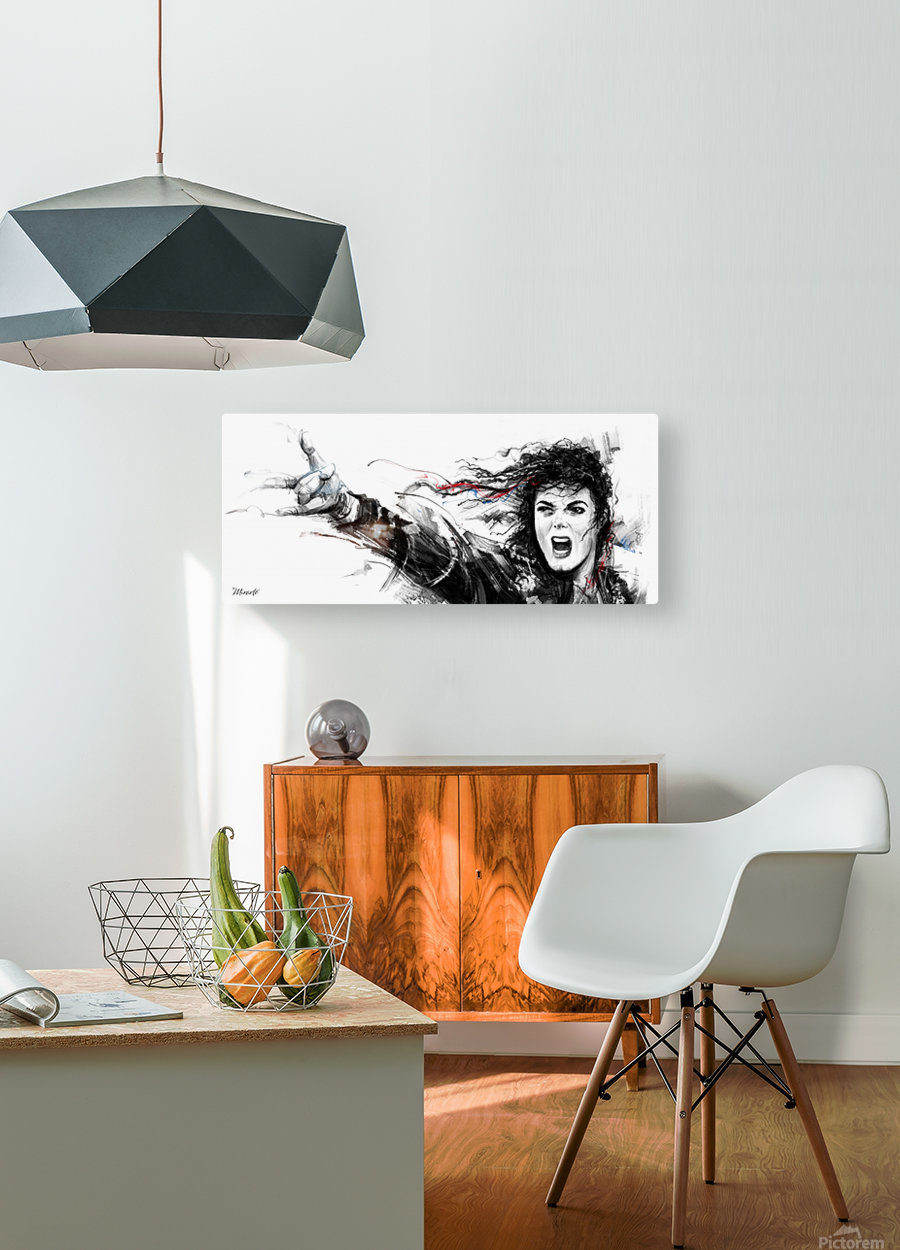 MICHAEL JACKSON  HD Metal print with Floating Frame on Back