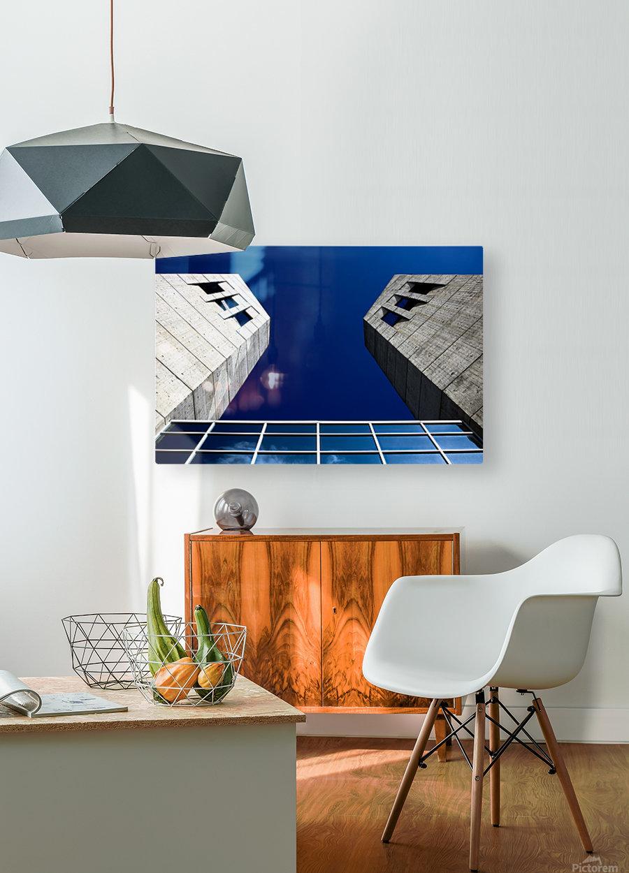 LightandDark  HD Metal print with Floating Frame on Back