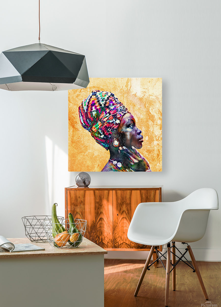 Color Through Culture I  HD Metal print with Floating Frame on Back