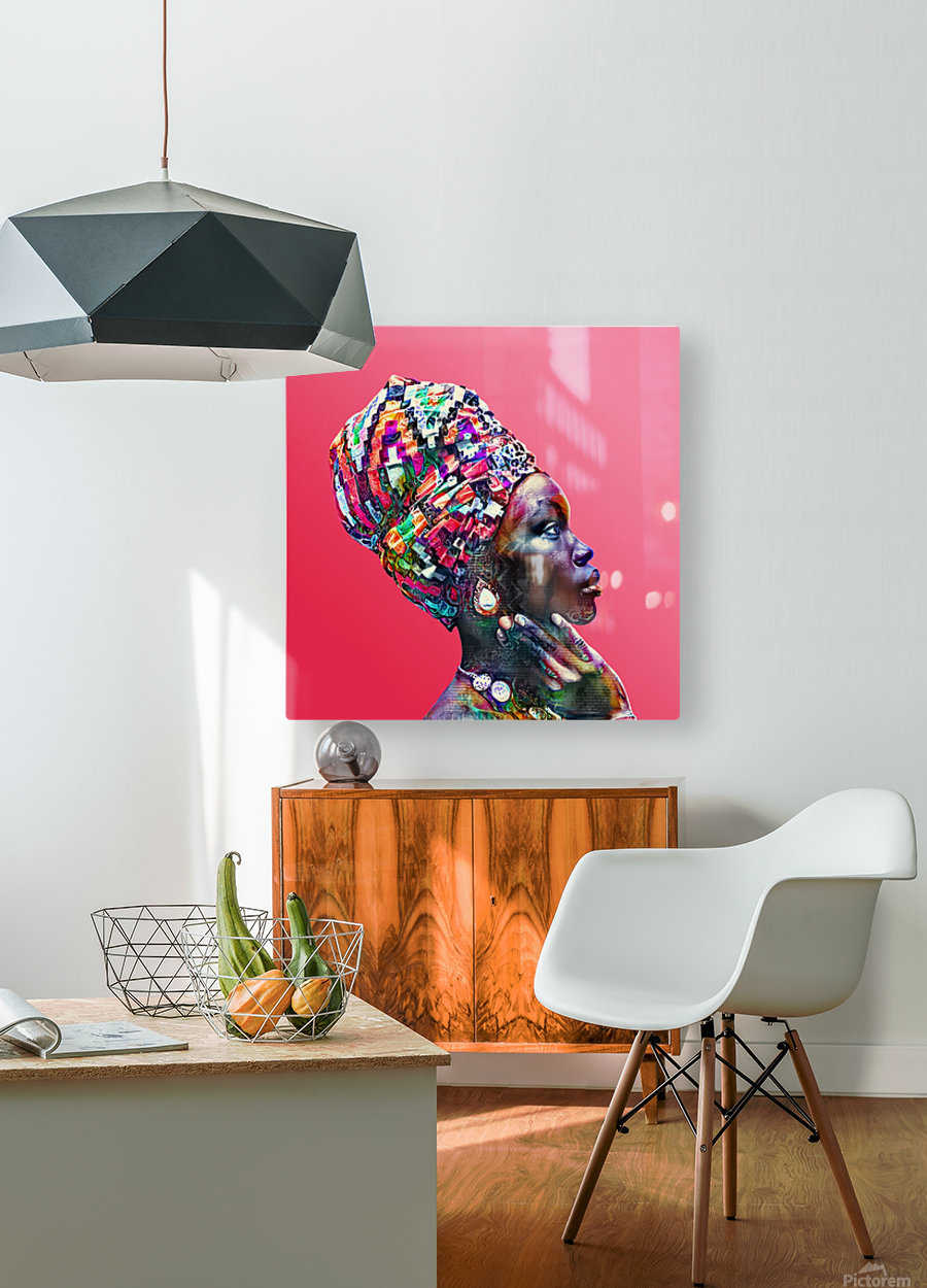 Color Through Culture VII  HD Metal print with Floating Frame on Back