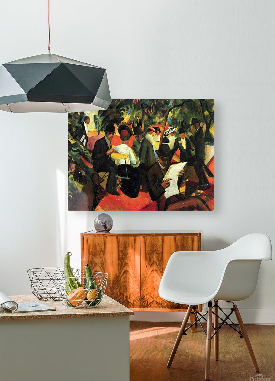 Garden Restaurant by Macke  Impression métal HD avec cadre flottant sur le dos