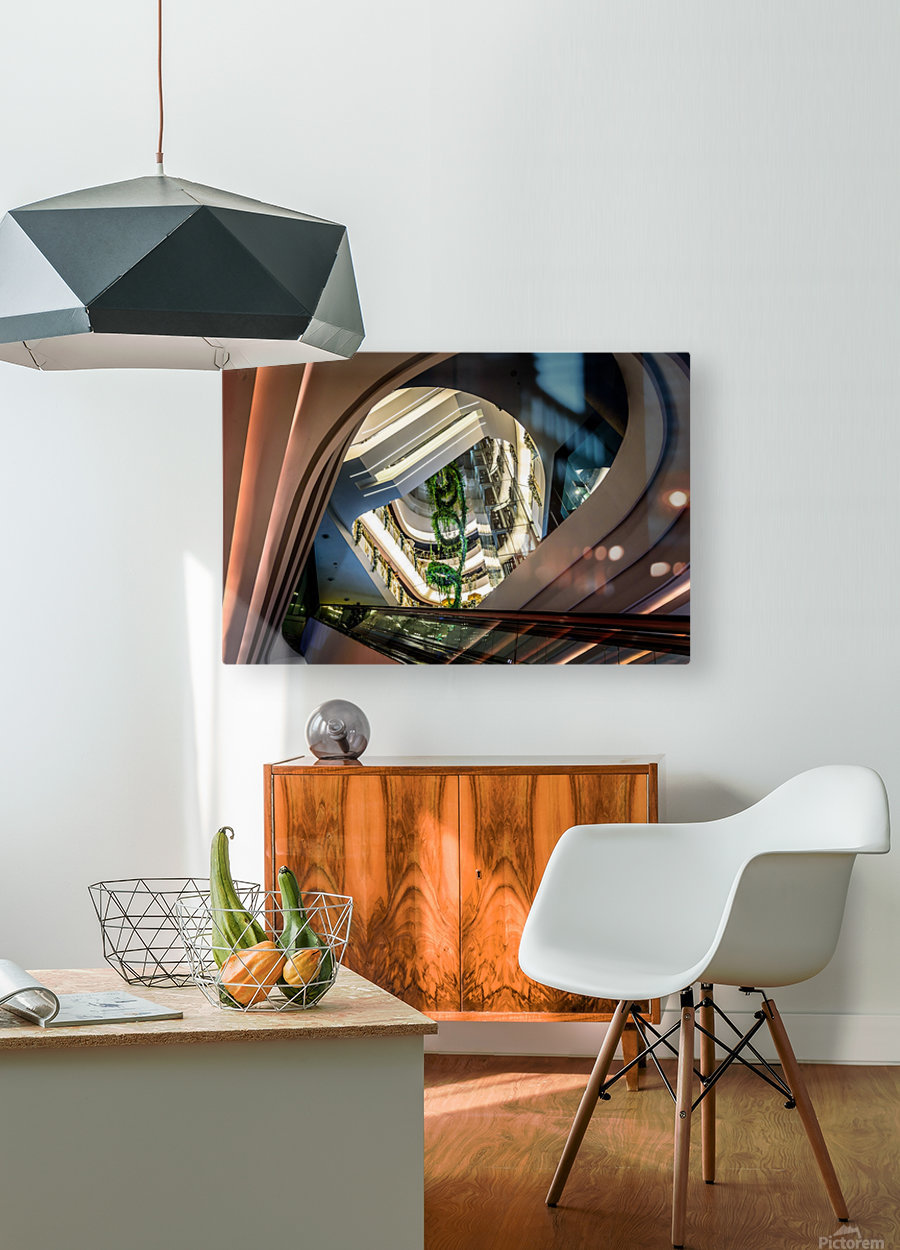Modern architecture  HD Metal print with Floating Frame on Back