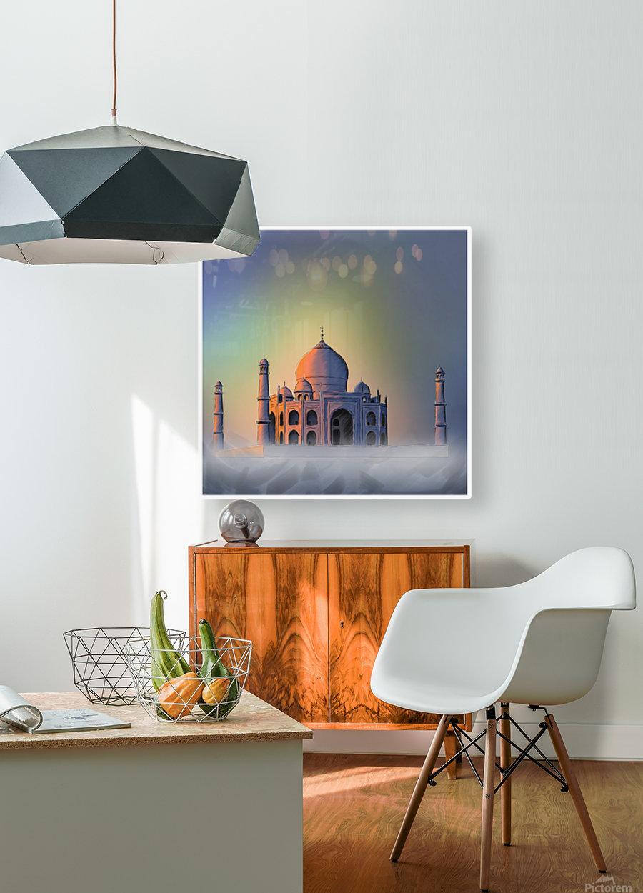 TAJ MAHAL  HD Metal print with Floating Frame on Back