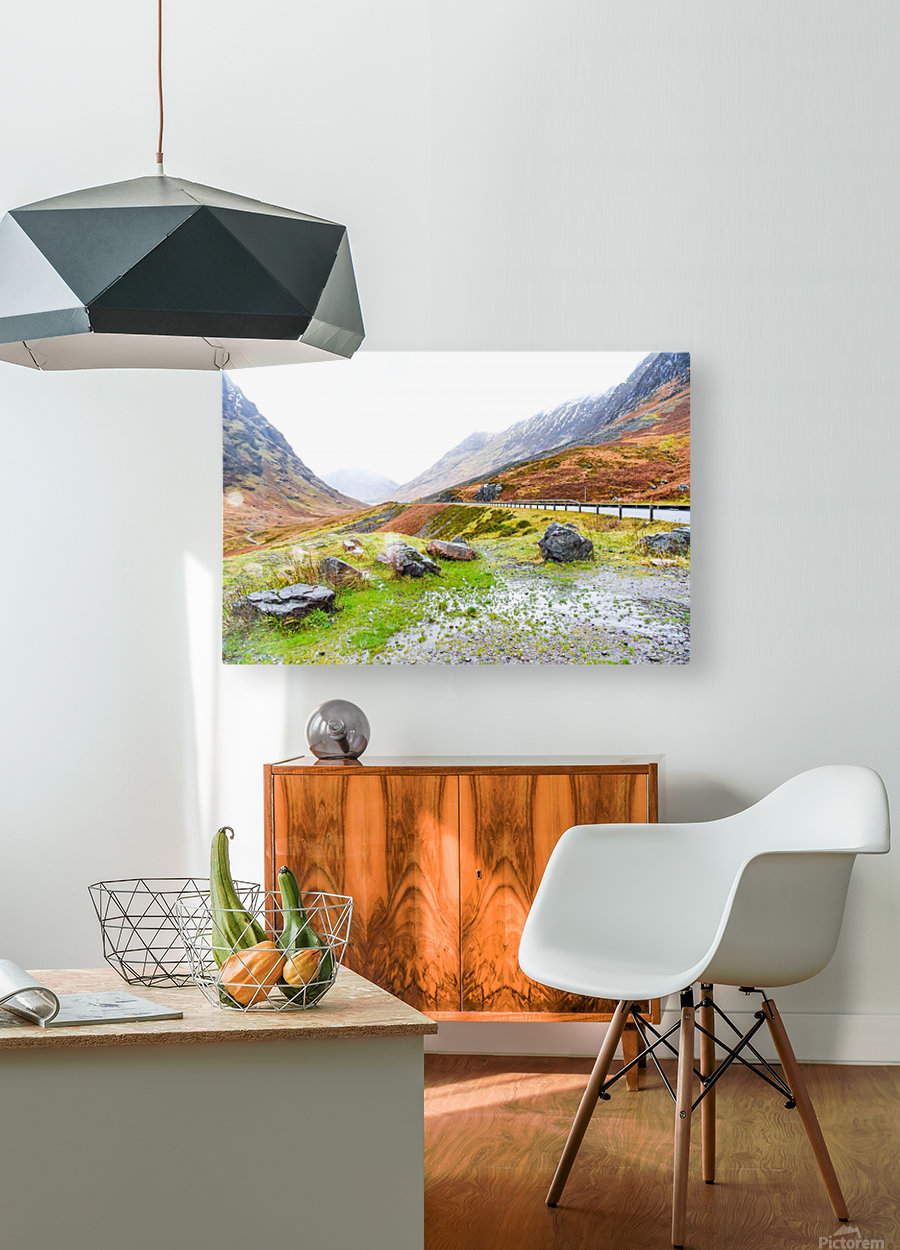 Glen Coe Scotland Highland United Kingdom  HD Metal print with Floating Frame on Back