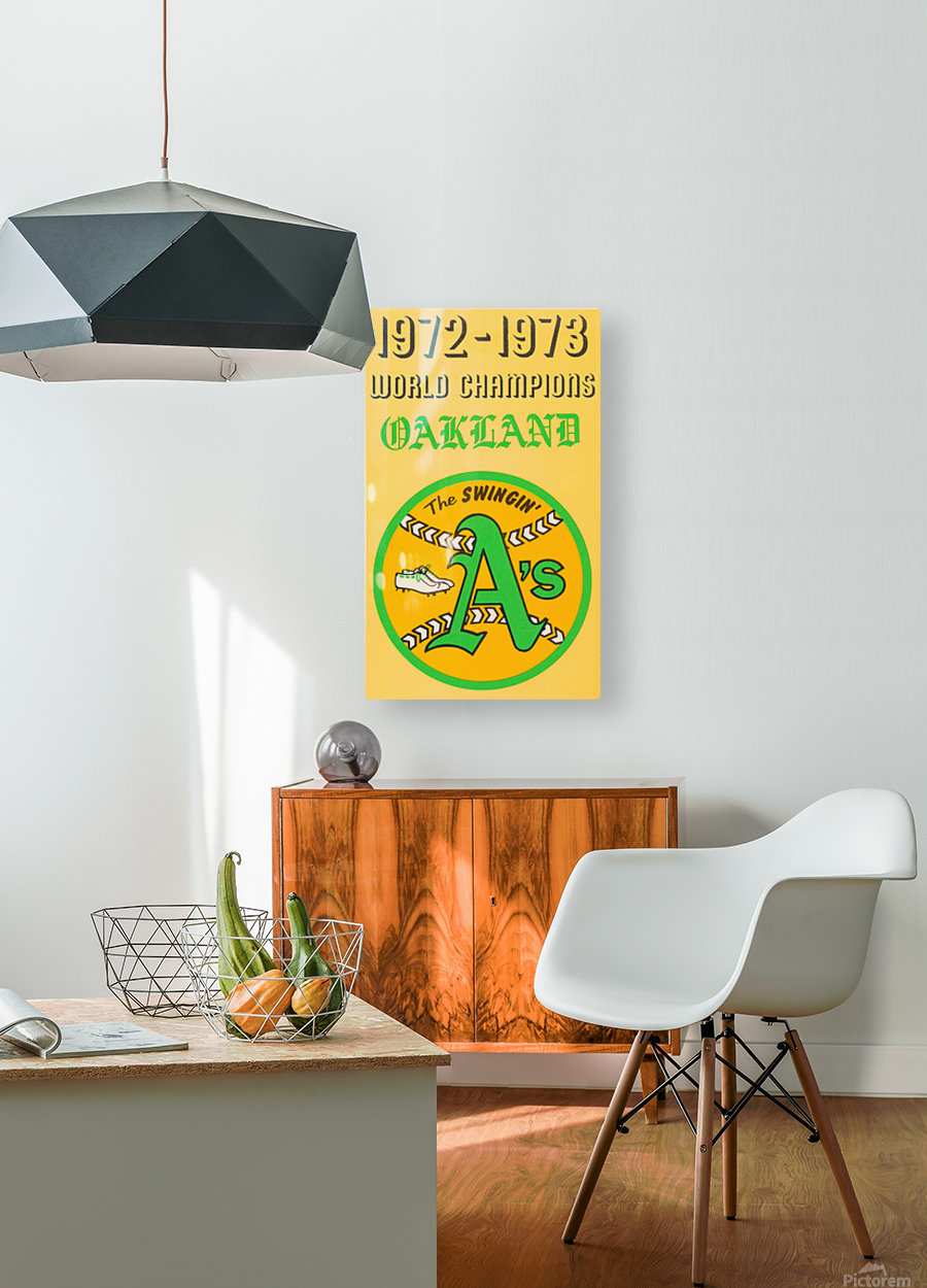 1972 Oakland Athletics World Champions  HD Metal print with Floating Frame on Back